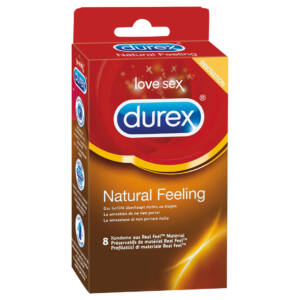 Durex Natural Feeling - latexmentes óvszer (8db)