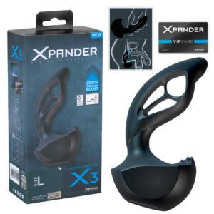 XPander X3 - prosztata masszírozó (fekete) - L méret