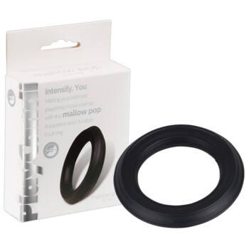 PlayCandi Mallow Pop - szilikon péniszgyűrű (fekete)