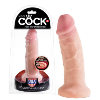 King Cock tömör dildó (18cm) - natúr