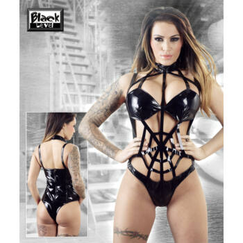 A pók hálójában - lakk body (fekete)